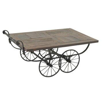 Wheeled Cart Coffee Table Wayfair
