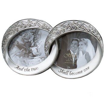 Fetco Home Decor Wedding Melissa Double Rings Picture Frame Shopswell