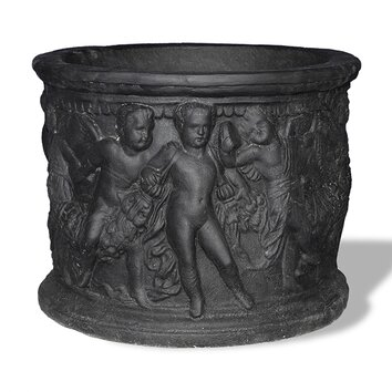 Amedeo Design ResinStone Cupid Planter - The Cupid Planter is one of our most unique classical pieces. Originating in ancient Rome, this pot is decorated with the mystical creatures of love: the Cupid. It depicts them in high relief frolicking all