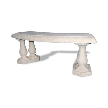 Amedeo Design ResinStone Curved Garden Bench - Our garden benches are great pieces inspired by traditional English design. They are highly suitable for all gardens or commercial projects. Being extremely durable and lightweight, they come with a