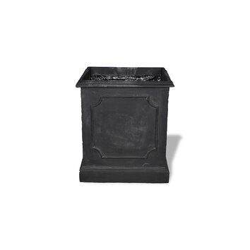 Amedeo Design ResinStone Paneled Square Planter - Paneled Square Planters are gorgeous and durable pieces. Made in likeness to classic English design they look like they were carved from stone. Crafted from our lightweight weatherproof ResinStone