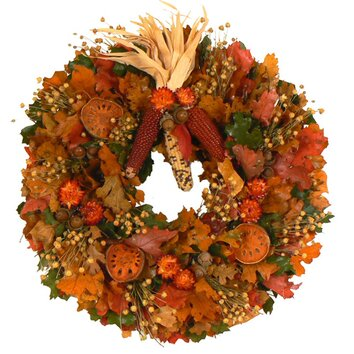 Urban Florals Autumn Tradition Wreath