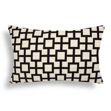 domusworks lattice cotton lumbar pillow amp reviews wayfair 22843