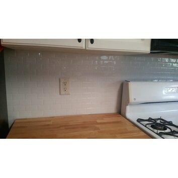 Smart Tiles Subway 9 7 Quot X 10 9 Quot White Peel Amp Stick Mosaik