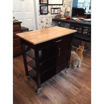 winsome mali kitchen island reviews wayfair. Black Bedroom Furniture Sets. Home Design Ideas