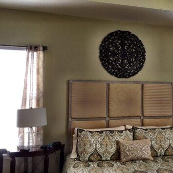 fetco home decor leroy handcrafted medallion wall d cor. Black Bedroom Furniture Sets. Home Design Ideas