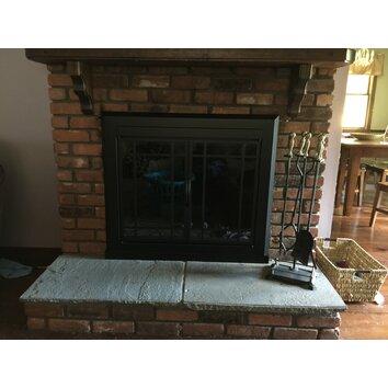 Pleasant hearth easton prairie cabinet style fireplace for Prairie style fireplace