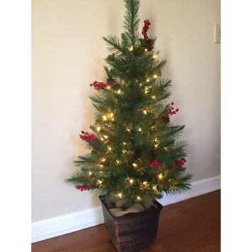 General Foam Plastics 4' Green Artificial Christmas Tree ...