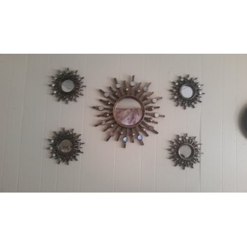 Stratton Home Decor Burst 5 Piece Mirror Set & Reviews ...
