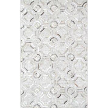 Cowhide hand loomed area rug ptx 3137