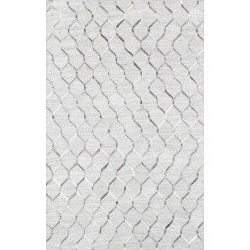 Cowhide hand loomed area rug ptx 3284