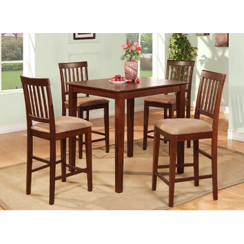 Woim Vernon 5 Piece Counter Height Dining Set Amp Reviews