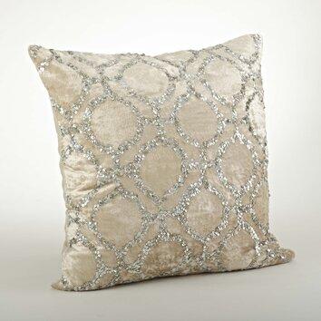 Saro Sparkling Velvet Sequined Cotton Throw Pillow