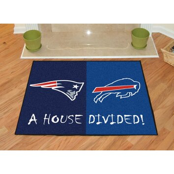Fanmats Nfl New England Patriots Buffalo Bills House