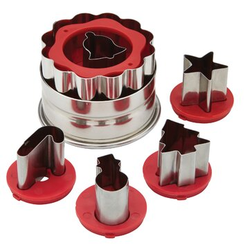 Cake Boss 6 Piece Holiday Linzer Cookie Cutter Set