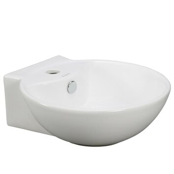 Deep Porcelain Sink : Elanti Porcelain Wall Mounted Deep Bowl Sink & Reviews Wayfair