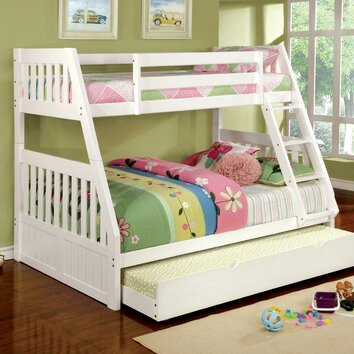 Lifestyle Solutions Twin Over Full Bunk Bed