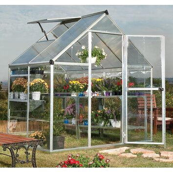 Palram Hybrid 6 Ft. W x 4.5 Ft. D Polycarbonate Greenhouse