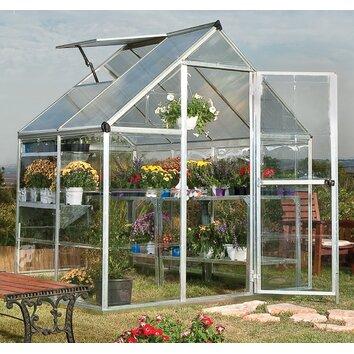 Palram Hybrid 6 Ft. W x 4.5 Ft. D Polycarbonate Greenhouse