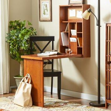 Andover Mills Wall Mounted Fold Up Desk Amp Reviews Wayfair