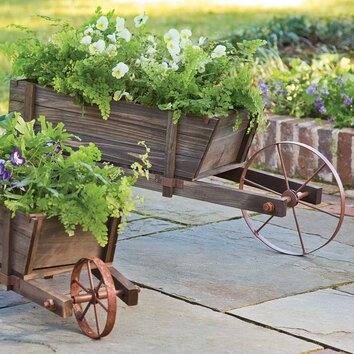 Plow & Hearth Wheelbarrow Planter