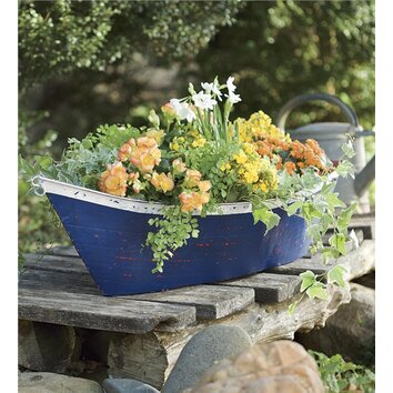 Plow & Hearth Novelty Boat Planter Box