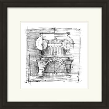 Drafting Elements I By Vision Studio Framed Graphic Art