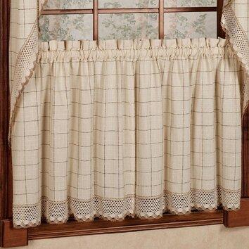 Sweet Home Collection Adirondack Cotton Kitchen Window
