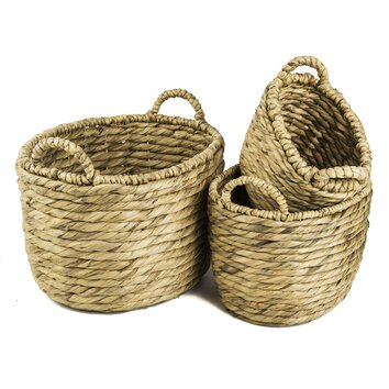 My Spirit Garden Water Hyacinth Channeled Basket