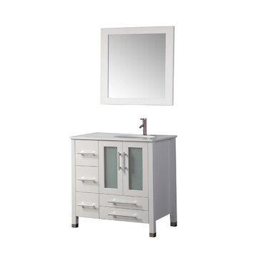 "Sweden 36"" Single Sink Bathroom Vanity Set with Mirror ..."
