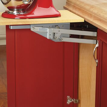another great idea for storing kitchen gadgets out of sight, with easy access when needed