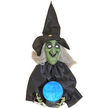 Worth Imports Witch with Glowing Crystal Ball