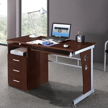 Brayden Studio Albany Computer Desk With Side Cabinet