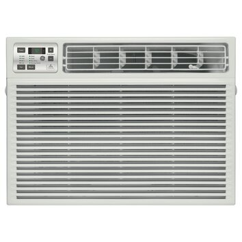 General Electric 17600 BTU Energy Star Window Air Conditioner with Remote, Airflow (cfm) roomside (hi / low): 410 / 360 Chassis type: Slide-out Filter type: One touch lift-out Louver style: 4-Way adjustable Mounting type: EZ mount
