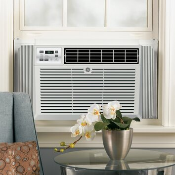 General Electric 14250 BTU Energy Star Window Air Conditioner with Remote - Louver style: 4-Way adjustable Mounting type: EZ mount Rotary compressor: Yes Thermostat type: Electronic