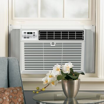 General Electric 8100 BTU Energy Star Window Air Conditioner with Remote - Chassis type: Fixed Filter type: One touch lift-out Louver style: 4-Way adjustable Rotary compressor: Yes