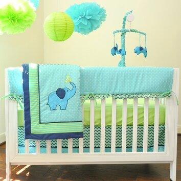 Pam grace creations zigzag 10 piece crib bedding set bdnb zigzag