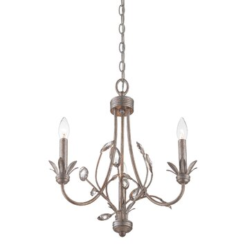 Quoizel Wesley 3 Light Chandelier Amp Reviews Wayfair