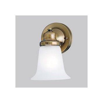 Wayfair Brass Wall Sconces : Progress Lighting Antique Brass Satin-Etched Glass Wall Sconce & Reviews Wayfair