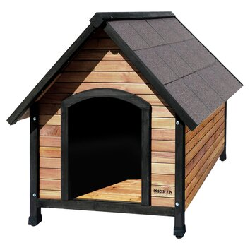 Precision Pet Outback Extreme Country Lodge Dog House - The Outback Extreme Country Lodge Dog House by Precision Pet is constructed from solid wood. Its stainless steel hardware also adds to its sturdiness