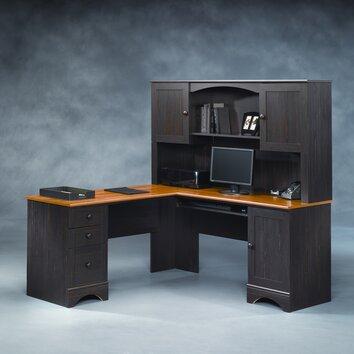 Sauder Harbor View L Shape Desk with Hutch & Reviews