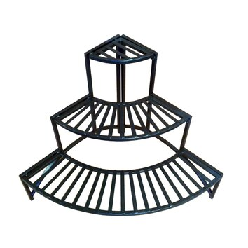 Pangaea Home And Garden Folding Corner Three Layer Iron Plant Stand BT FL091CRNR PZ1126 on help decorating living room