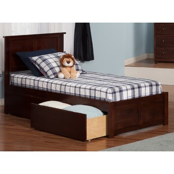 Atlantic Furniture Madison Twin Xl Panel Bed With Drawers Reviews Wayfair
