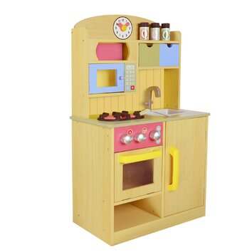 wooden kitchen accessory set teamson chef wooden play kitchen with 1629
