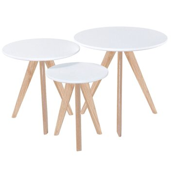 Diamond Sofa Sprout 3 Piece Nesting Tables amp Reviews Wayfair