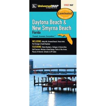 Daytona Beach New Myrna Beach Florida Laminated Map Wayfair