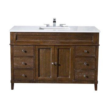 Stufurhome hamilton 49 single sink bathroom vanity set reviews wayfair for Bathroom vanities hamilton