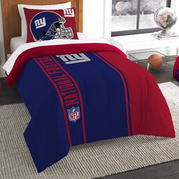 Nfl New York Giants Helmet Comforter Set Wayfair