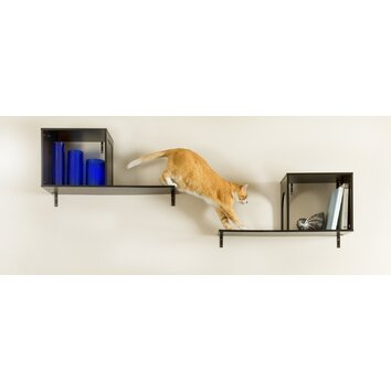 Designer pet products the sophia 14 wall mounted cat tree reviews wayfair - Wall mounted cat climber ...