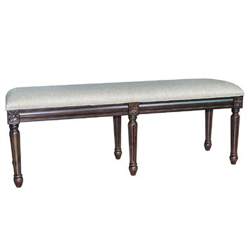 crestview the hampton linen accent bedroom bench reviews wayfair